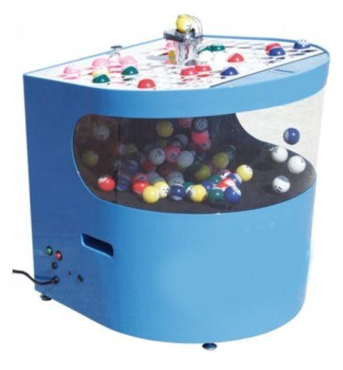 Quiet round front professional electronic bingo blower