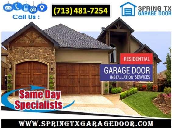 Residential new garage door installation ($25.95) | spring houston, 77379 tx