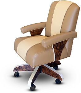 Buy luxury poker arm chair with casters