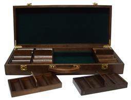 Wooden poker case