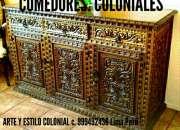 BARES TALLADOS colonial Muebles PERÚ SUDAMERICA