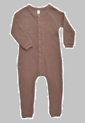 Buy cotton waffle romper cocoa for kids at discounted price of $14