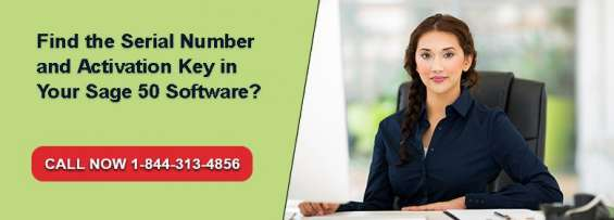 Find the sage 50 serial number and activation key?