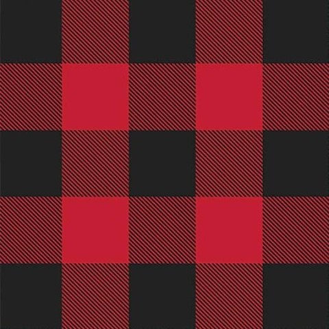 Flannel fabric online - black and red plaid flannel