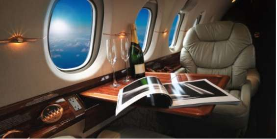 First class flight to italy