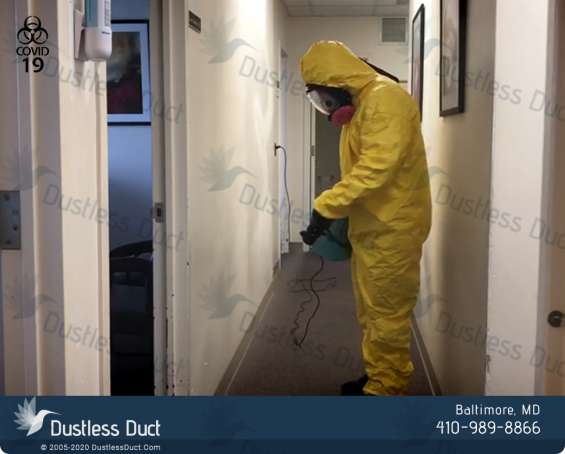 Disinfection services in buildings