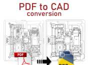 High Quality PDF to CAD Conversion Services