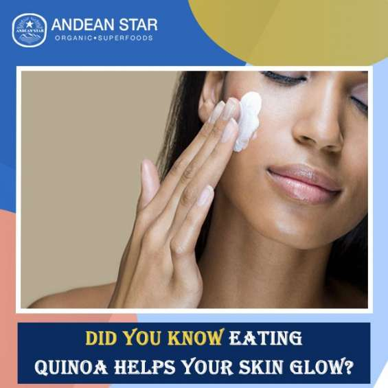 Did you know eating quinoa can helps your skin glow?