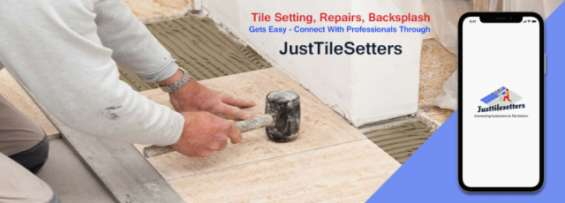 Tile setting, repairs, backsplash gets easy- connect with professionals through justtilese