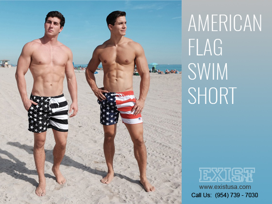 American flag swim short