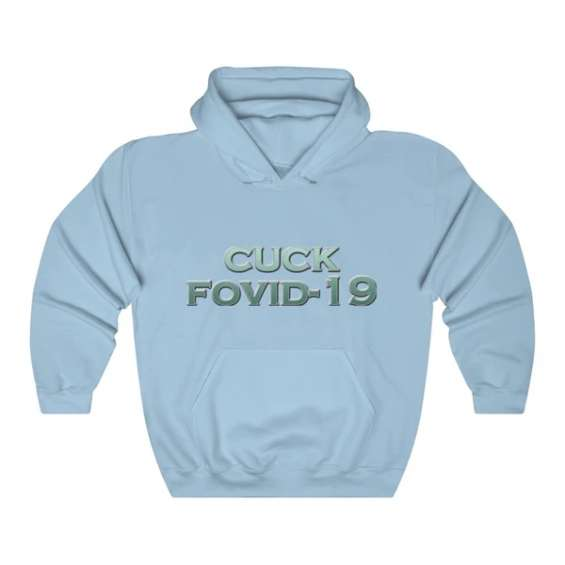 Cuck fovid - 2.0 white hoodie for men & women