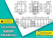 Architectural glazing shop Drawing Services at COPL