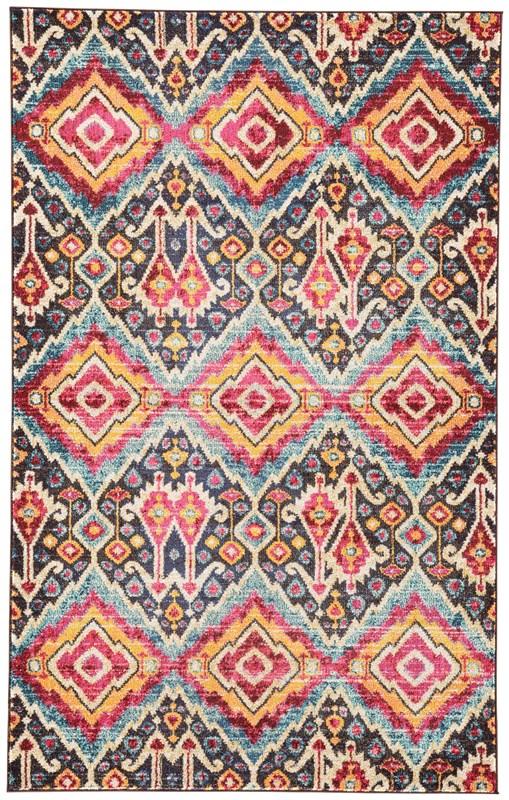 Jaipur living rex ikat multicolor area rug