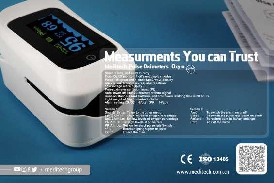 Real manufacturer meditech ce fda oled finger pulse oxyo pro oled pulse oximeter with pi