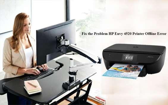 Solve hp envy 4520 printer offline error problem