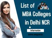 List of MBA Colleges in Delhi NCR