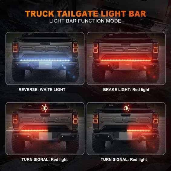 Truck tailgate light bars