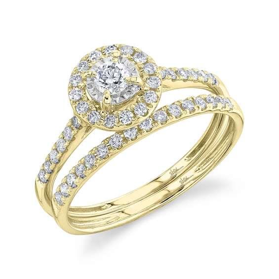 Buy 14k yellow gold diamond wedding ring set