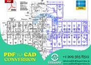 Pdf to cad conversion | pdf to cad drawing services