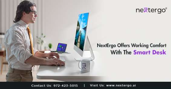 Nextergo offers working comfort with the smart desk