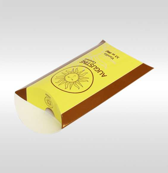 Make your product visibility by custom pillow caramel boxes