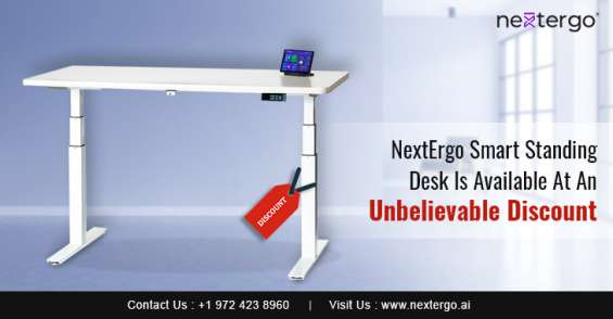 Nextergo smart standing desk is available at an unbelievable discount