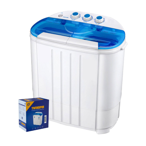 Twinspin portable washing machine