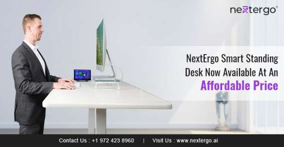 Nextergo smart standing desk now available at an affordable price