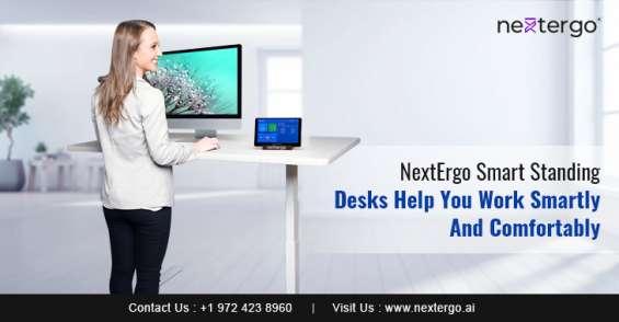 Nextergo smart standing desks help you work smartly and comfortably
