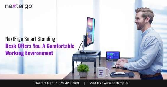 Nextergo smart standing desk offers you a comfortable working environment