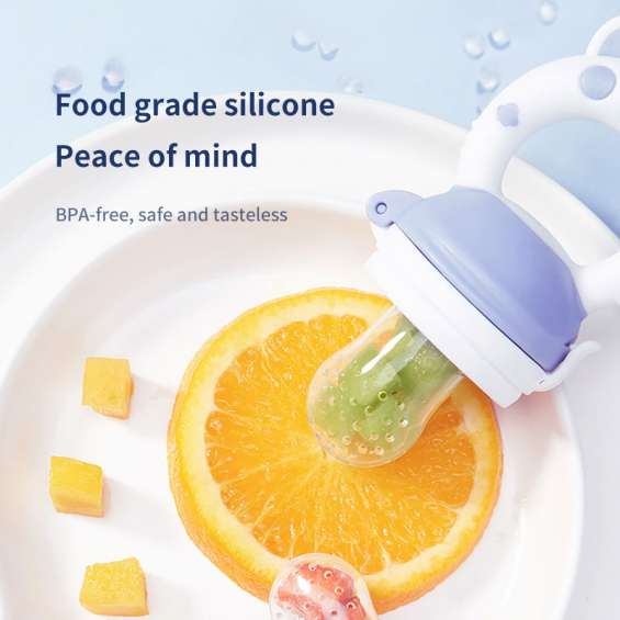 High quality vegetable teether toy eco-friendly natural silicone baby food fruit feeder