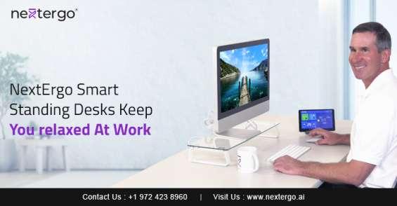 Nextergo smart standing desks keep you relaxed at work