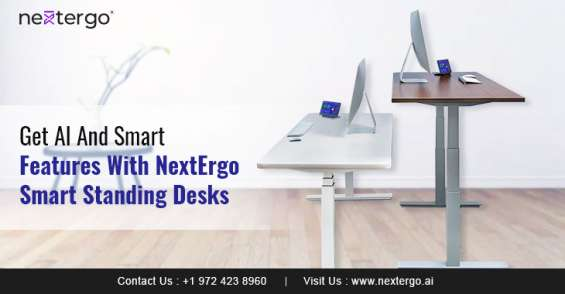 Get ai and smart features with nextergo smart standing desks